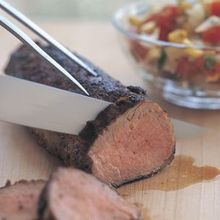 Chili-Rubbed Pork with Corn Salsa (Ancho Chili Powder) Recipe