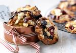 Sour cherry and stem ginger florentines Recipe