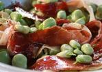 Broad beans with pata negra ham Recipe