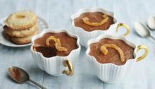 Chocolate mousse with fiery ginger shortbread and candied orange peel Recipe