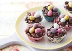 Chocolate Easter egg nest cakes Recipe
