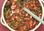 Bacon and sausage stew with beans Recipe