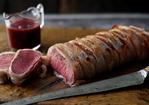 Loin of venison in a sloe gin and blackberry glaze Recipe