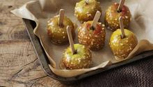 Nutty toffee apples Recipe