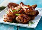 Sticky barbecue chicken wings and drumsticks Recipe