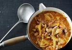 Rabbit and pearl barley stew Recipe