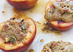 Baked Nectarines with Pistachios Recipe