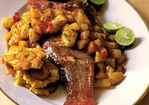 Roasted Whole Snapper with Mango and Fresh Pepper Chutney Recipe