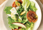 Salad with Pancetta Crisps, Roasted Brussels Sprouts, and Pear Recipe