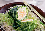 Salmon Steamed with Savoy Cabbage Recipe