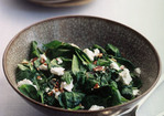 Sauteed Spinach with Pecans and Goat Cheese Recipe