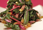 Sauteed Swiss Chard with Raisins and Pine Nuts Recipe