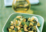 Sauteed Zucchini and Yellow Squash with Mint Recipe
