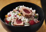 Sicilian Rice Salad with Seared Tuna Recipe