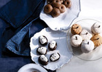Square Pumpkin-Cake Petits Fours with Honey-Chocolate Glaze Recipe