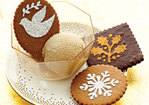 Stenciled Chocolate Cookies Recipe