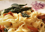 Tagliatelle with Prosciutto and Asparagus Recipe