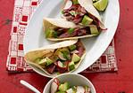Beef Tacos with Radish and Avocado Salsa Recipe