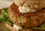 Veggie Burgers with Tahini Mayonnaise Recipe