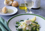White Wine-Poached Scallop and Herb Salad Recipe