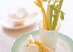 Celery Sticks with Horseradish Cream Cheese Recipe