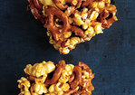 Chewy Caramel Popcorn and Pretzel Bars Recipe