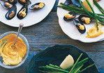 Chilled Mussels with Saffron Mayonnaise Recipe