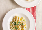 Creamy Fettuccine with Two Cheeses Recipe
