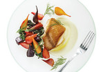 Crisp Black Cod with Skordalia and Roasted Beets Recipe