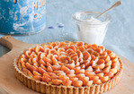 Almond-Apricot Tart with Whipped Cream Recipe
