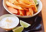 Fresh Papaya with Coconut-Lime Yogurt Recipe