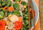 Green Prawns with Chinese Noodles Recipe