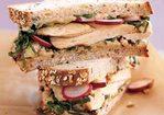 Grilled Chicken and Escarole Sandwich with White-Bean Spread Recipe