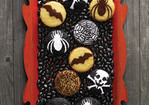 Stenciled Halloween Cupcakes Recipe