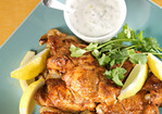Indian-Spiced Chicken with Raita Recipe