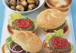 Meatloaf Burgers With Quick Ketchup Recipe