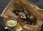 Baby Artichokes with Olives en Papillote Recipe