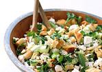 Pita Bread Salad with Cucumber, Mint, and Feta Recipe