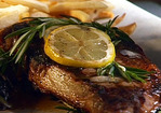 Grilled Rib-Eyes with Rosemary-Shallot Butter Recipe