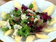 Jill's Fresh Pear and Maytag Farms Blue Cheese Salad with a Toasted Walnut Vinaigrette Recipe
