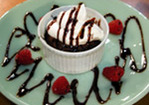 Molten Chocolate Cakes with Raspberries and Cream Recipe