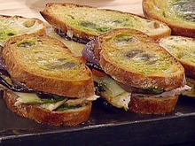 Roast Turkey Panini with, Pesto, Roasted Red Peppers and Fontina Recipe