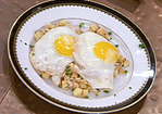 Smoked Salmon Hash with Sunny Side Up Eggs Recipe
