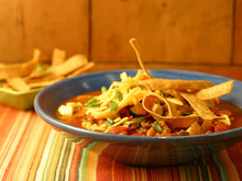 South of the Border Veggie Chili with Fixins Recipe