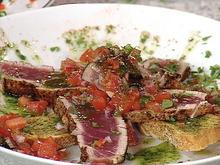 Tuna with Tomato Escabeche Recipe