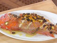 Whole Roasted Red Snapper with Orange, Rosemary and Kalamata Olives Recipe