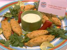 Chicken Satay Sticks with Wasabi Mayonnaise Recipe