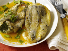 Chiles Rellenos in Tomato Broth Recipe