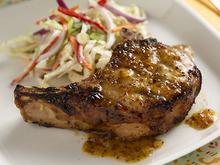 Peach-Mustard Pork Chops Recipe