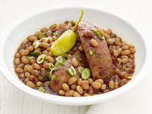 Slow-Cooker Barbecue Beans and Sausage Recipe